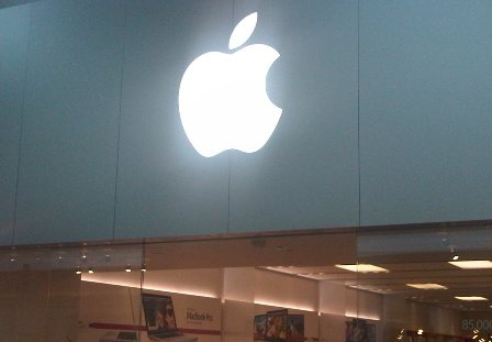 Apple Store large logo sign