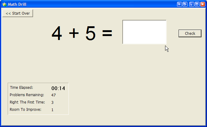Math Drill screen shot